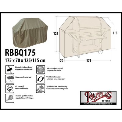 Raffles Covers Barbeque hoes 175 x 70 H: 125 / 115 cm