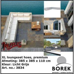 Loungesethoes hoekbank, 385 x 385 x 110 H: 65 cm