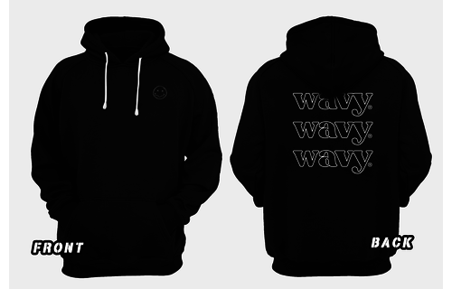 Wavy hoodie - Umpf smiley