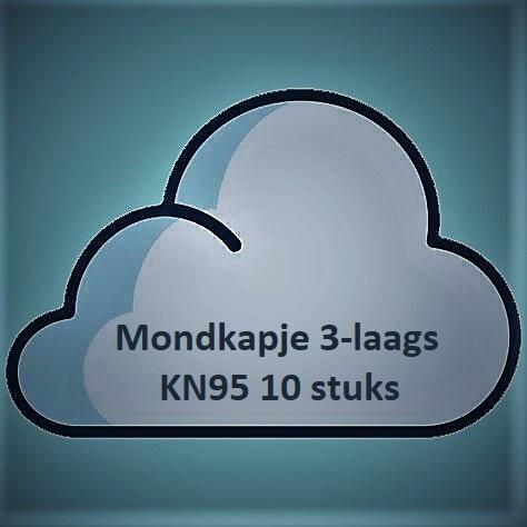 Mondkapje 3-laags KN95 (10 stuks)