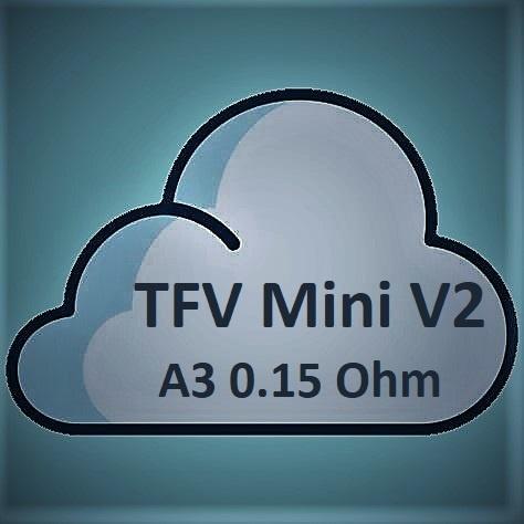 Smok SMOK TFV Mini V2 Coils - A3 Dual Triple Coil 0.15Ohm-Stainless Steel