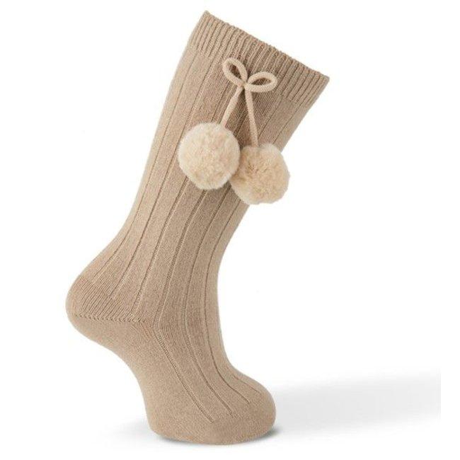 CARLOMAGNO - Socks Knee socks pompom - Topo