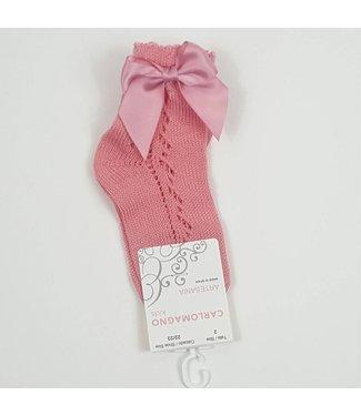 CARLOMAGNO - Socks Enkelkous met strik 'Maquillage'