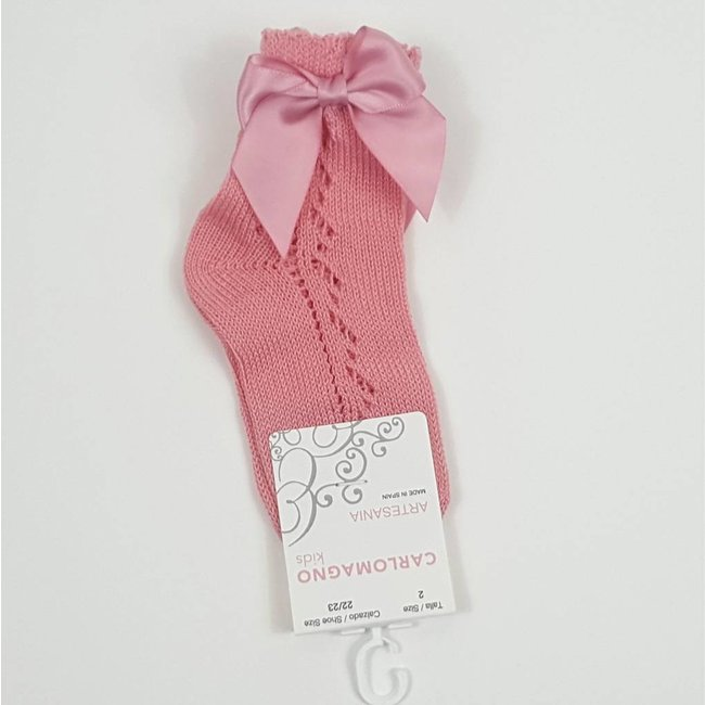 CARLOMAGNO - Socks Ankle sock with bow 'Maquillage'