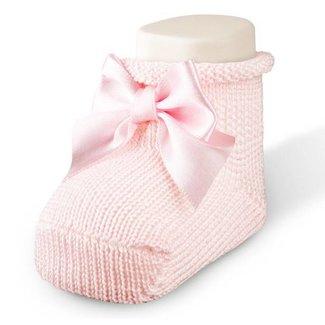 CARLOMAGNO - Socks Newborn Satin Bow Ankle Socks Pink