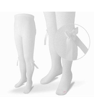 CARLOMAGNO - Socks Witte Kousenbroek met strik