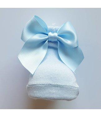 CARLOMAGNO - Socks Baby kousjes strik licht blauw
