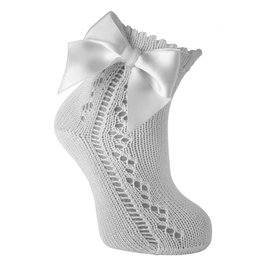 958ca00f9 CARLOMAGNO - Socks Ankle Sock With Bow White