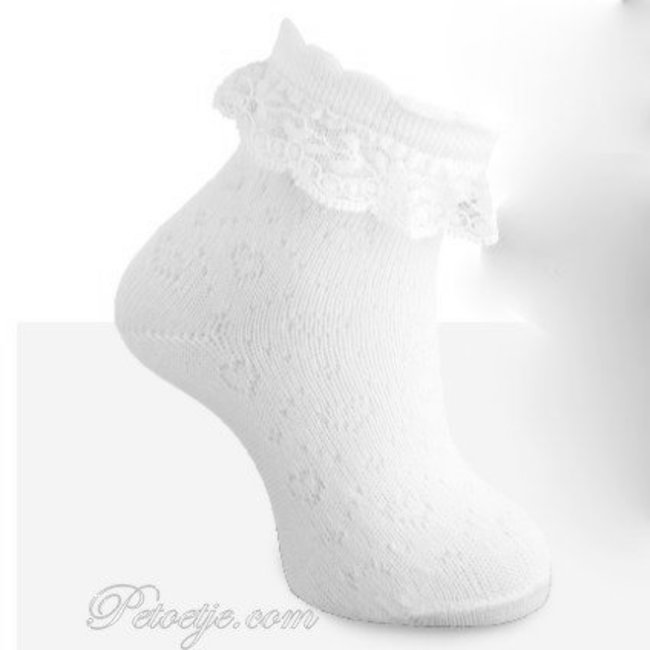 CARLOMAGNO - Socks Ankle Socks White with Lace