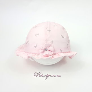 CAPOCUBO 'Dragonfly' Pink Cotton Sun Hat - Flower