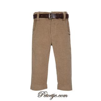 LAPIN HOUSE Boys Brown Velor Trouser