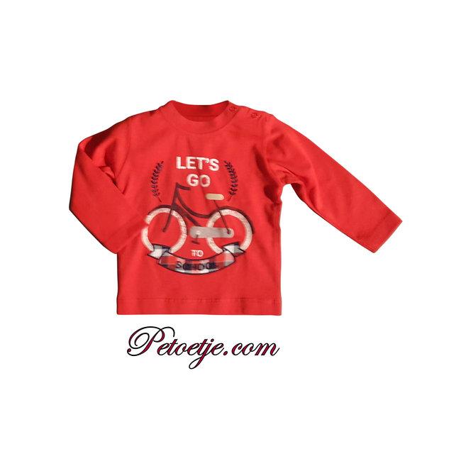 DR. KID Jongens Rode T-shirt Fiets