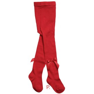 CARLOMAGNO - Socks Red Satin Bow Cotton Tights