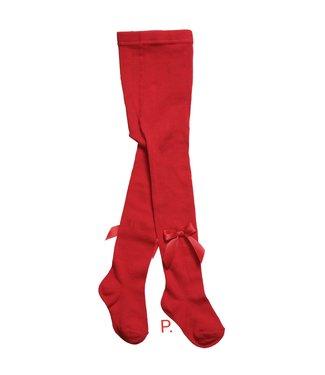 CARLOMAGNO - Socks Rode Kousenbroek met Strik