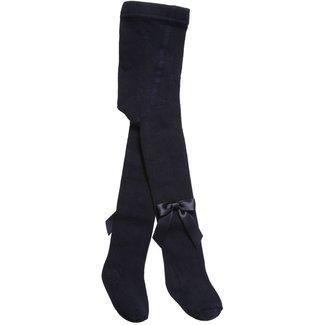 CARLOMAGNO - Socks Navy Blue Satin Bow Cotton Tights