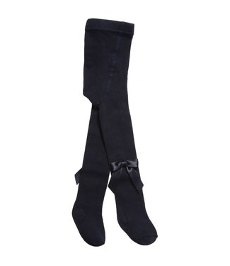 CARLOMAGNO - Socks Blue Satin Bow Cotton Tights