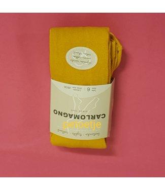 CARLOMAGNO - Socks Girls Mustard Yellow CottonTights