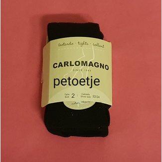 CARLOMAGNO - Socks Girls Black Cotton Tights Plain