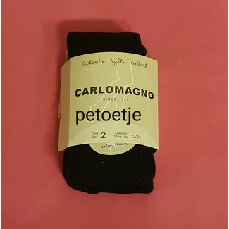 CARLOMAGNO - Socks Zwarte Kousenbroek Effen