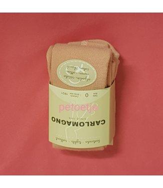 CARLOMAGNO - Socks Girls Pink Palo Cotton Tights plain