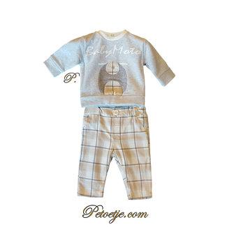 EMC Baby Jongens Beige Flanel Set