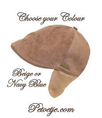 CAPOCUBO Boys Cotton Cap Beige or Navy Blue