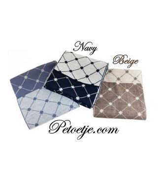 CAPOCUBO Boys Wool Blend Scarf - Beige or Navy Blue