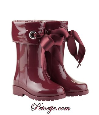 IGOR  Campera Charol Burgundy Ribbon Rain Boots