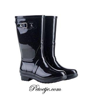 IGOR  Girls Black Glitter Rain Boots