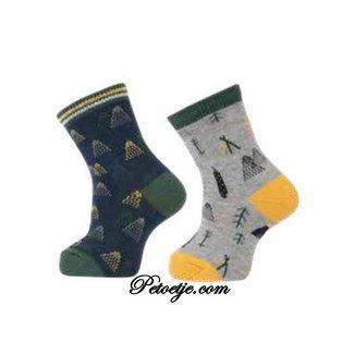 CARLOMAGNO - Socks Blue & Grey Fantasy Cotton Socks
