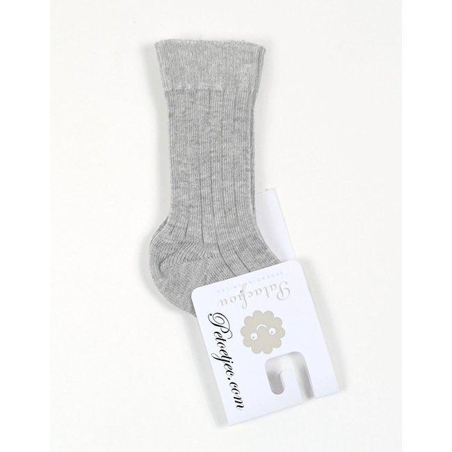 PATACHOU Unisex Grey Cotton Kneesocks