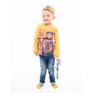 EMC Jongens Donker Gele T-shirt