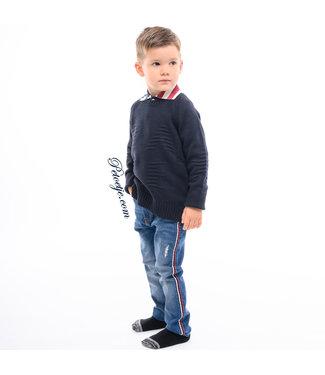 EMC Boys Blue Cotton & Wool Sweater