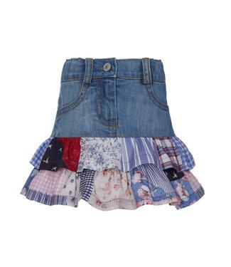 LAPIN HOUSE Denim Ruffle Skirt