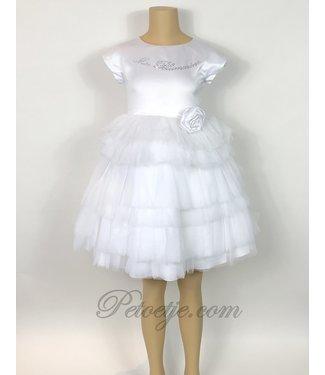 MISS BLUMARINE  White Tulle Dress Flower