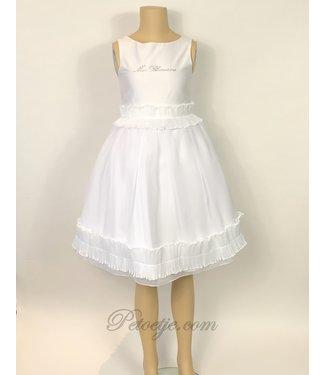 MISS BLUMARINE  Girls White Ruffle Dress