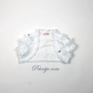 MISS BLUMARINE  Meisjes Witte Ruches Vest