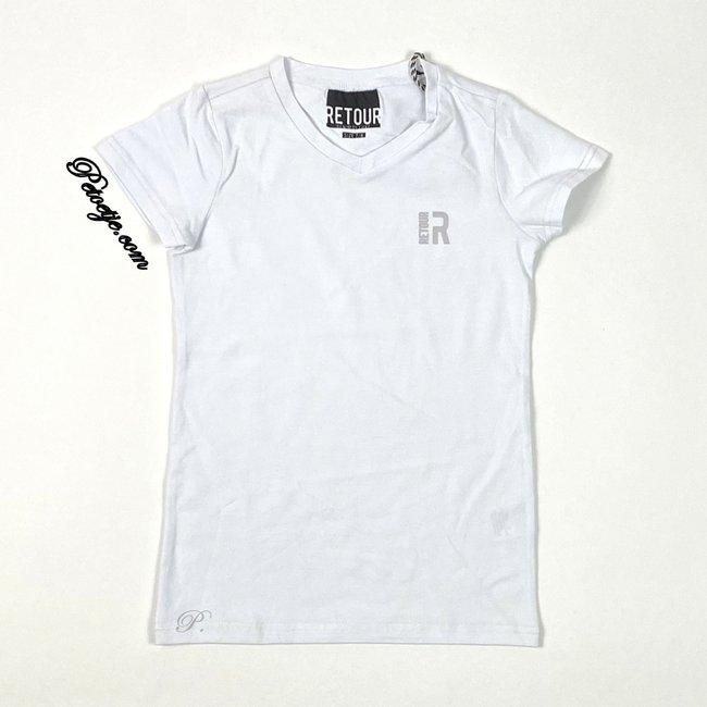 RETOUR Jeans Boys White Logo T-Shirt
