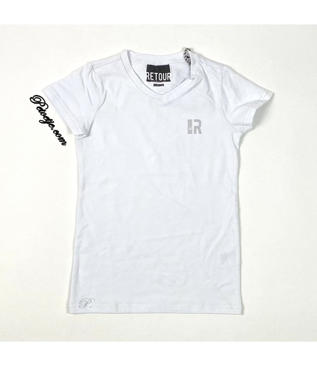 RETOUR  Boys White Logo T-Shirt