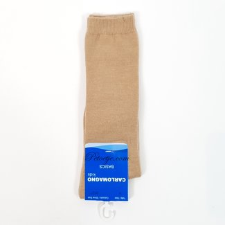 CARLOMAGNO - Socks Unisex Camel Cotton Knee Socks