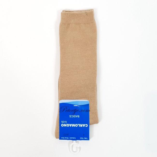 CARLOMAGNO - Socks Unisex Camel Cotton Knee Socks
