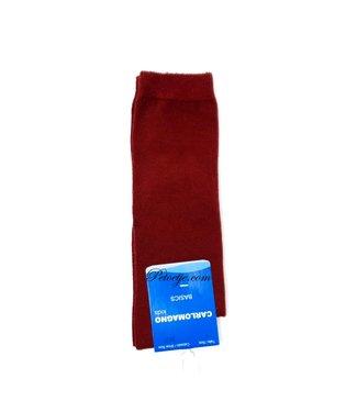 CARLOMAGNO - Socks Uniseks Granaat Kniekous - Donker Rood