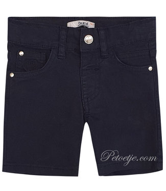 DR. KID Navy Blue Cotton Shorts