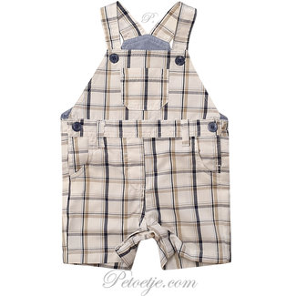 DR. KID Baby Boys Beige Checked Dungaree