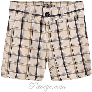 DR. KID Beige Geruite Short