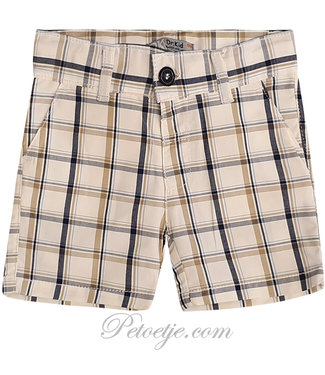 DR. KID Beige Checked Shorts