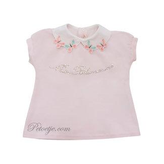 MISS BLUMARINE  Girls Pink CottonTop - Butterfly