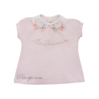 MISS BLUMARINE  Meisjes Roze Top  - Vlinder