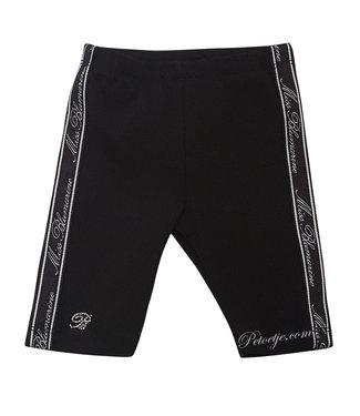MISS BLUMARINE  Meisjes Zwarte Logo Legging