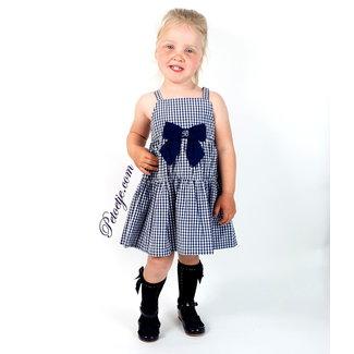 BALLOON CHIC Girls Blue Check Dress